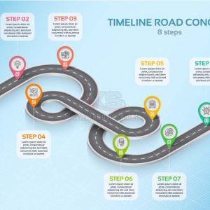 Vector con đường Infographics - KS1048