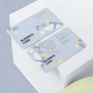 Business Card Mockup bo góc tròn PSD - KS1219