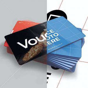 Card Voucher Mockup PSD tuyệt đẹp - KS1203
