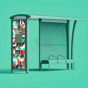 Mockup quảng cáo trạm dừng xe buýt - KS1206