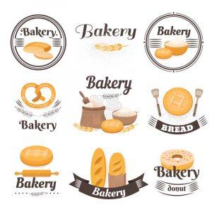 9 Logo Làm Bánh Vector tuyệt đẹp - KS1224