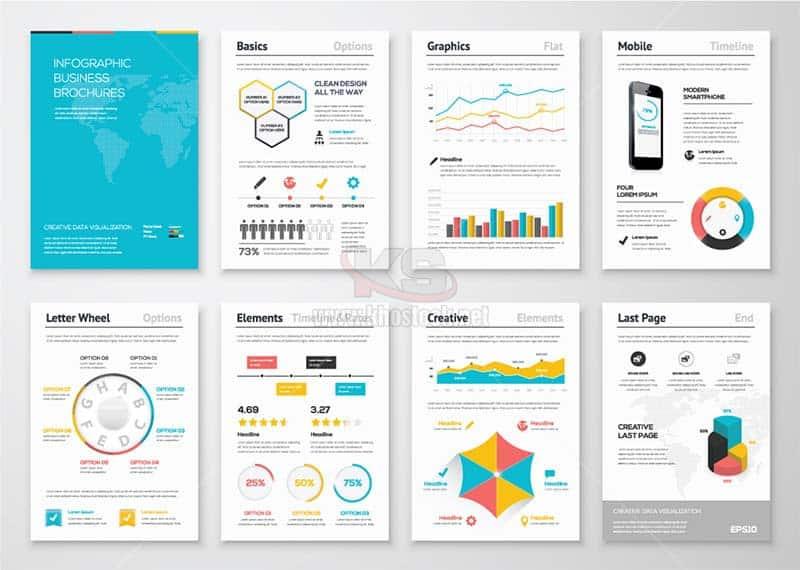 Infographic Business Brochures Vector - KS1249