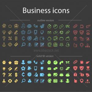 Vector icons business miễn phí tuyệt đẹp - KS1252