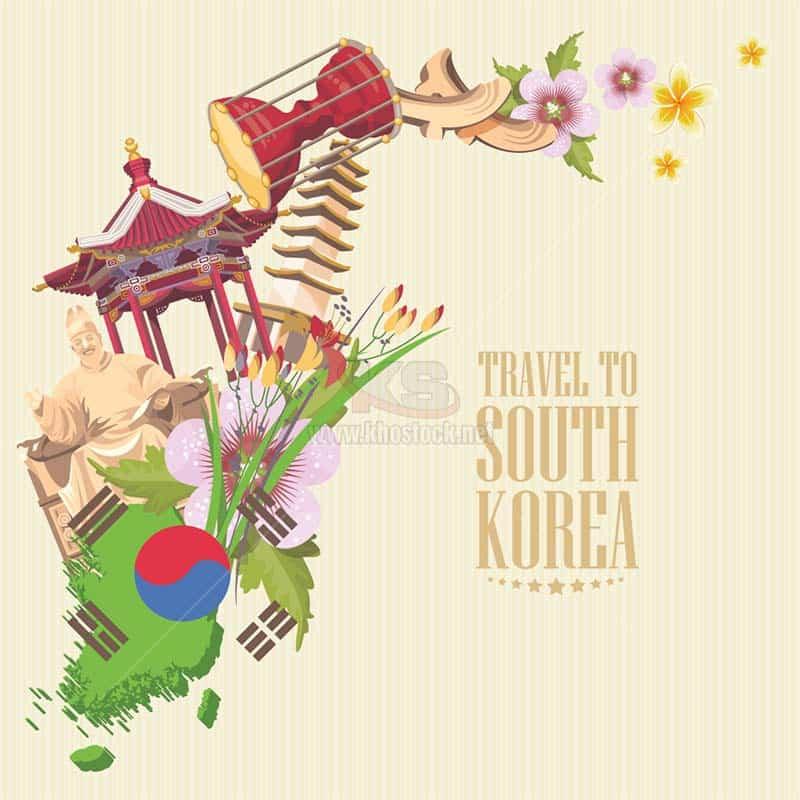 Travel to South Korea Vector - KS1270