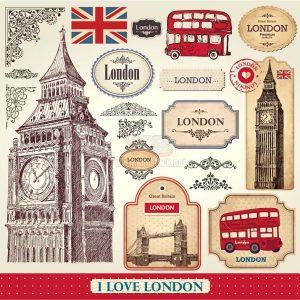 Vector du lịch London cổ điển - KS1276