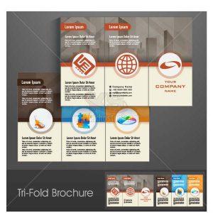 Tri-Fold Brochure Vector tuyệt đẹp - KS1277