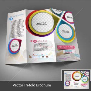 Vector Tri-Fold Brochure gấp 3 - KS1280