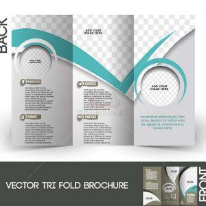 Vector Tri-Fold Brochure hiện đại gấp 3 - KS1284