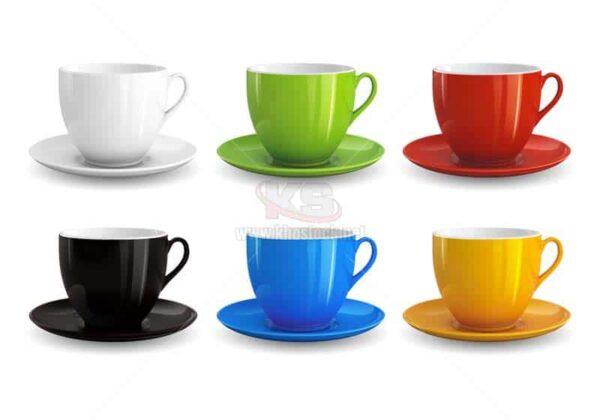 Mockup Cốc uống trà Vector miễn phí - KS1289