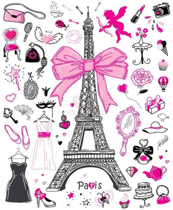 Tháp Eiffel thời trang Vector tuyệt đẹp - KS1296