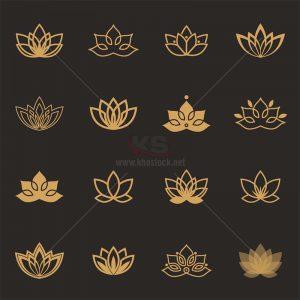 Logo icons hoa sen Vector miễn phí - KS1303