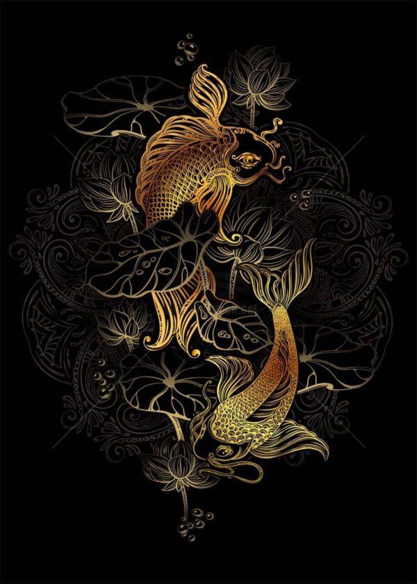 Cá Koi nghệ thuật Vector tuyệt đẹp - KS1367