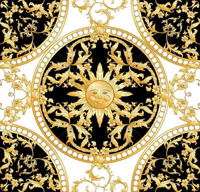 Hoa văn mặt trời Vector Patterns - KS1370