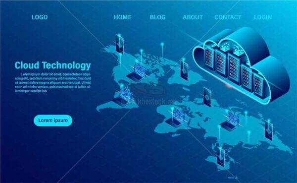 Công nghệ đám mây Vector miễn phí - KS1375