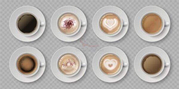 Vector 8 cốc Cafe tuyệt đẹp - KS1377