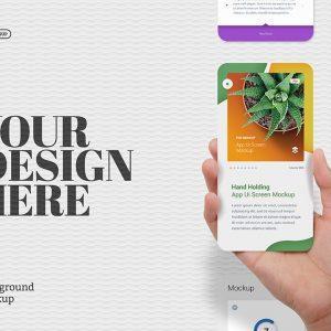 Mockup màn hình ứng dụng cầm tay UI - KS1393