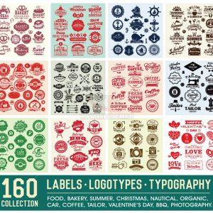 160 Logotypes Vector tuyệt đẹp cổ điển - KS1317