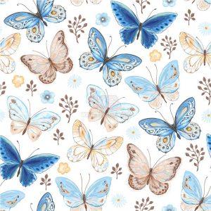 Patterns Con Bướm Vector tuyệt đẹp - KS1343
