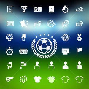 Bộ sưu tập icons bóng đá đầy đủ - KS1433