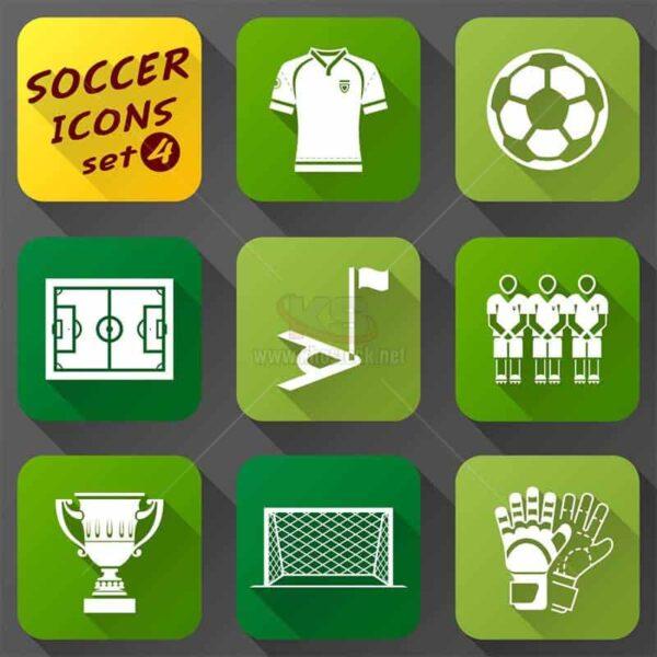 Icons bóng đá phong cách phẳng miễn phí - KS1434