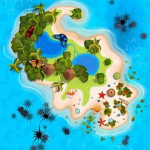 Vector đảo nghỉ dưỡng du lịch - KS1440