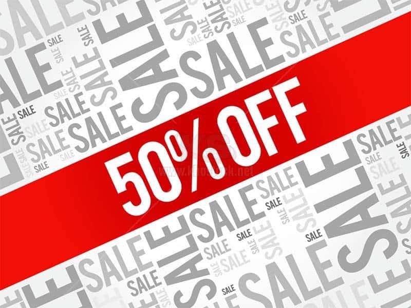 Vector 50% Sale Off miễn phí tuyệt đẹp - KS1447
