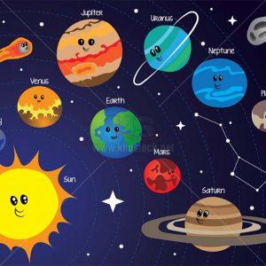 Hệ Mặt Trời Hoạt Hình Vector tuyệt đẹp - KS1469
