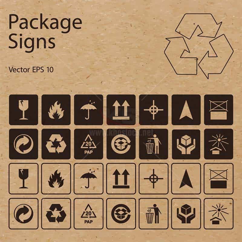 Packaging Signs Vector tuyệt đẹp - KS1473