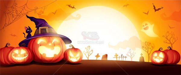 Halloween Background Vector tuyệt đẹp - KS1475