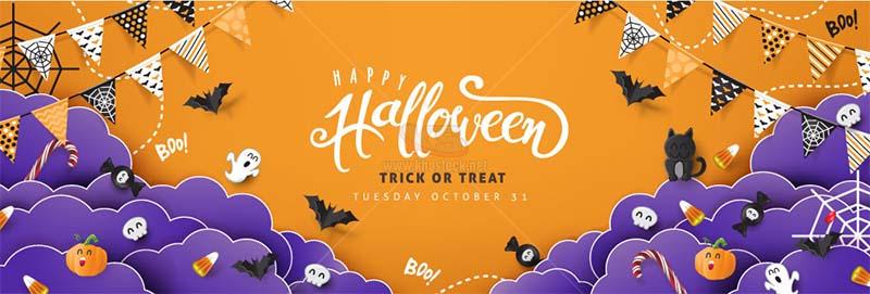 Background Vector Halloween miễn phí – KS1478