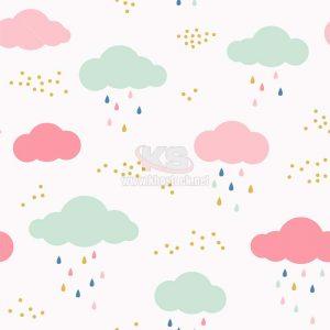 Patterns Mây và Mưa Vector chất lượng cao – KS1486