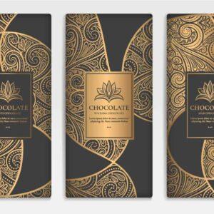 3 Vector Chocolate hoa văn hiện đại - KS1493