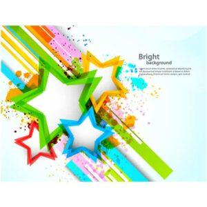 Vector ngôi sao background tuyệt đẹp - KS1497