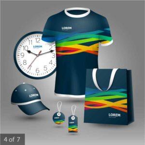 Mockup áo, túi, đồng hồ, nón, thẻ đeo Vector - KS1499