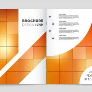 Brochure 2 mặt Vector hiện đại - KS1505